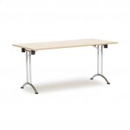 Skládací stůl Marina, 1600x800 mm, bříza, chromované nohy
