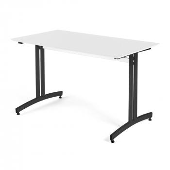 Jídelní stůl Sanna, 1200 x 700 x V 720 mm, bílá/černá