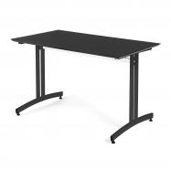 Jídelní stůl Sanna, 1200x700 mm, HPL, černá, černá