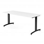 Jídelní stůl Sanna, 1800x700 mm, HPL, bílá, černá