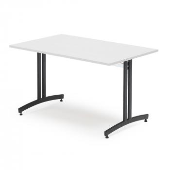 Jídelní stůl Sanna, 1200x800 mm bílá/černá