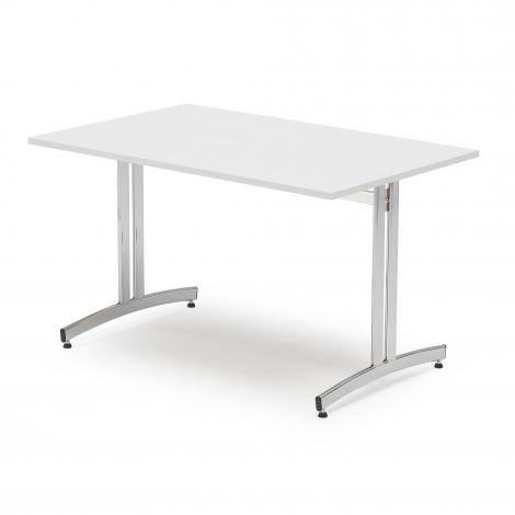Jídelní stůl Sanna, 1200x800 mm bílá/chrom