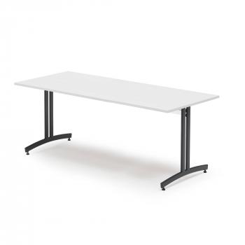 Jídelní stůl Sanna, 1800x800 mm bílá/černá