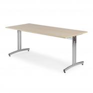 Jídelní stůl Sanna, 1800x700 mm, bříza, chrom
