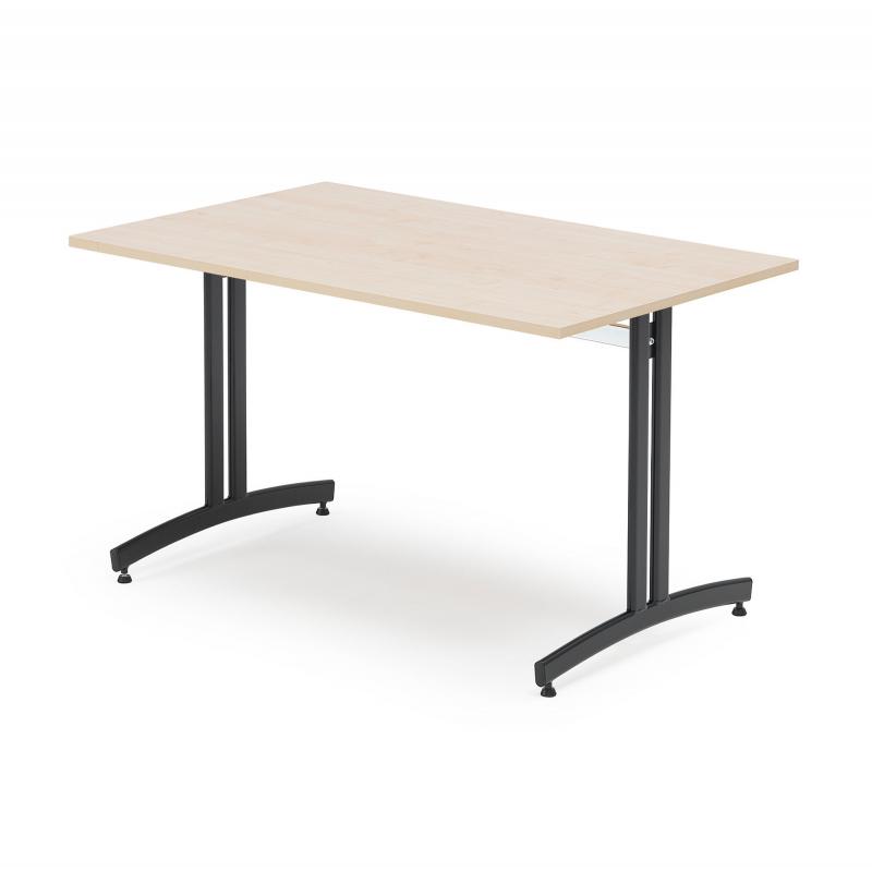 Jídelní stůl Sanna, 1200x800 mm, bříza, černá