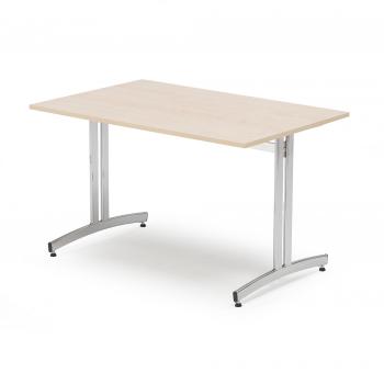 Jídelní stůl Sanna, 1200x800 mm, bříza, chrom