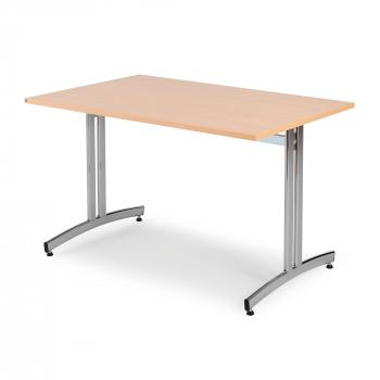 Jídelní stůl Sanna, 1200x800 mm, buk, chrom