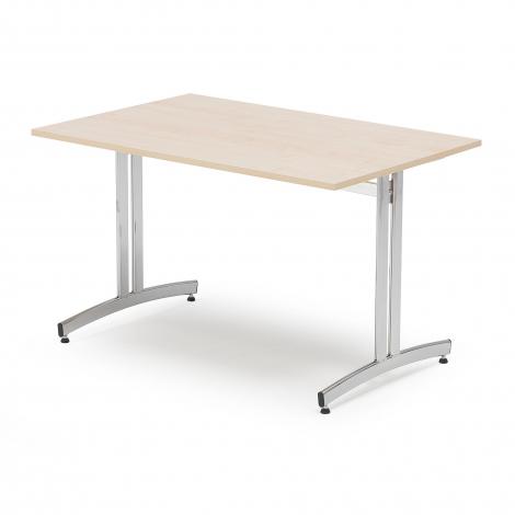 Jídelní stůl Sanna, 1200x700 mm, bříza, chrom
