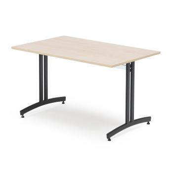 Jídelní stůl Sanna, 1200x700 mm, bříza, černá