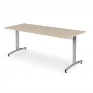 Jídelní stůl Sanna, 1800x800 mm, bříza, chrom