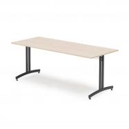 Jídelní stůl Sanna, 1800x800 mm, bříza, černá