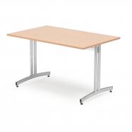 Jídelní stůl Sanna, 1200x700 mm, buk, chrom