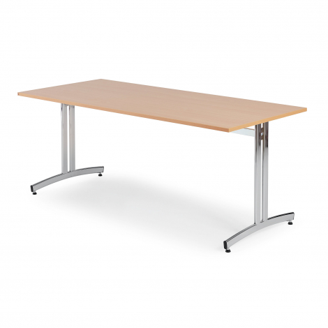 Jídelní stůl Sanna, 1800x700 mm, buk, chrom