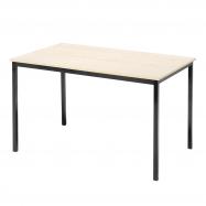 Jídelní stůl Jamie, 1200x800 mm, bříza, černá
