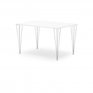 Jídelní stůl Zadie, 1400x800 mm, HPL, bílá/chrom