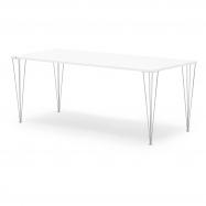 Jídelní stůl Zadie, 2000x800 mm, HPL, bílá/chrom
