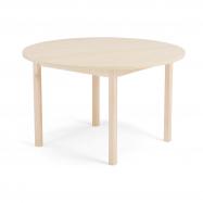 Jídelní stůl Europa, Ø 1200x720 mm, HPL, bříza