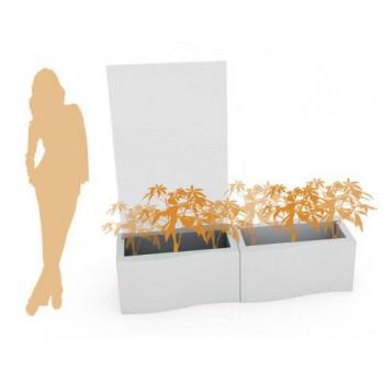 Svítící designový květináč Privé