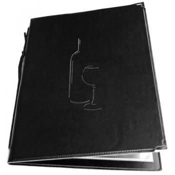 Vinný lístek Securit Classic A4 - černá