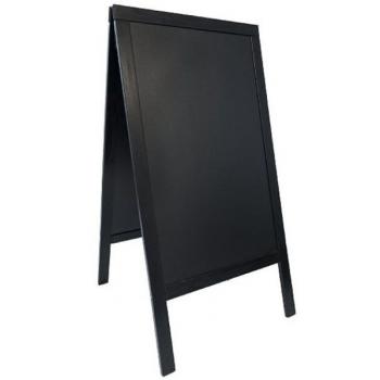 """Nabídková tabule Securit ve tvaru písmene A"""" 68 x 120 cm - černá"""""""