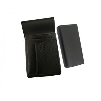 Koženkový set - kasírka (černá, imitace kůže, 2 zipy) a kapsa New Barex