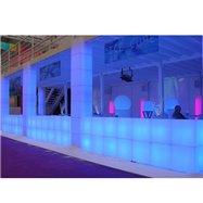 Svítící sedací taburet CUBO