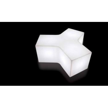 Svítící sedací taburet pro 3 osoby YPSILON