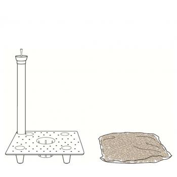 Rezervoár vody pro hranaté květináče