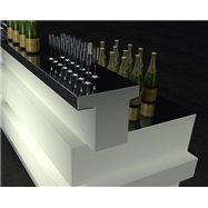 Svítící barový pult Tetris - rovný díl