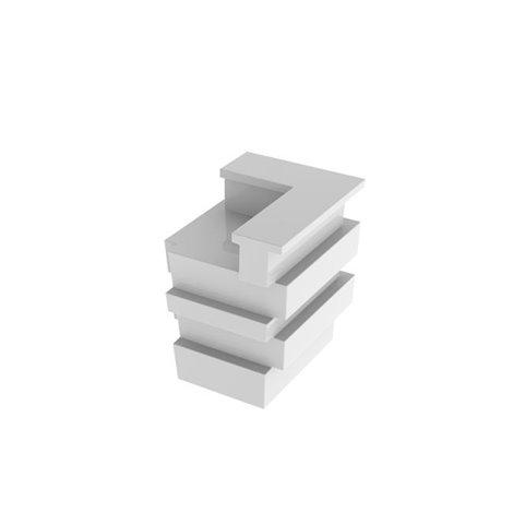 Svítící barový pult Tetris - rohový díl