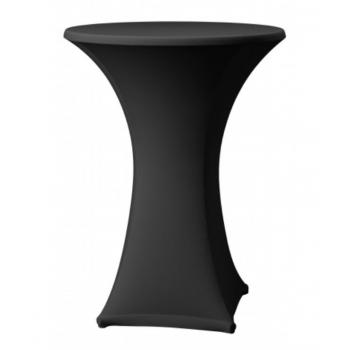 Elastický potah SAMBA na koktejlové stoly Ø 60cm - černý