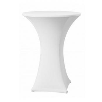 Elastický potah SAMBA na koktejlové stoly Ø 60cm - bílý