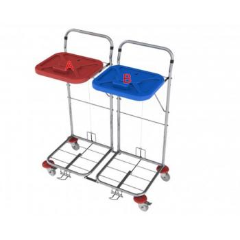 Vozík na prádlo VAKO 80C/2N - nožní ovládání