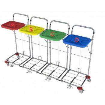 Vozík na prádlo VAKO 80C/4N - nožní ovládání