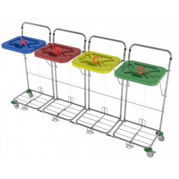 Vozík na prádlo VAKO 120C/4N - nožní ovládání