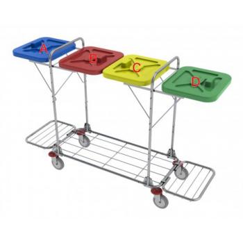 Vozík na prádlo VAKO 120L - ruční ovládání