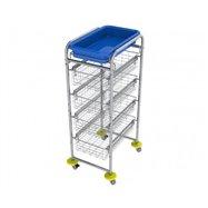 Zdravotnický víceúčelový košíkový vozík AMBULANT MINI 4