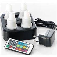 Souprava 4 LED svíček s možností napájení