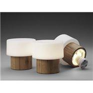 SISTER - LED svítilna z bambusu  - 110 x 110 mm