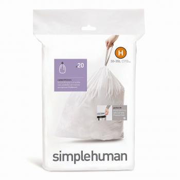 Sáčky do odpadkového koše 30-35 L, Simplehuman typ H, zatahovací, 20 ks v balení