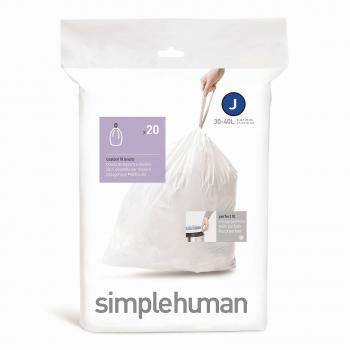 Sáčky do odpadkového koše 30-45 L, Simplehuman typ J, zatahovací, 20 ks v balení