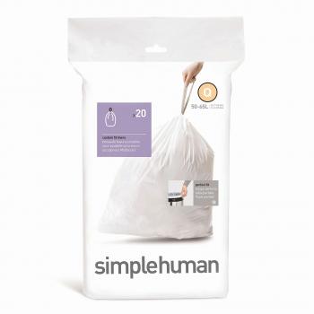 Sáčky do odpadkového koše 50-65 L, Simplehuman typ Q, zatahovací, 20 ks v balení