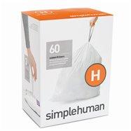 Sáčky do odpadkového koše 30-35 L, Simplehuman typ H zatahovací, 3 x 20 ks ( 60 sáčků ) WP