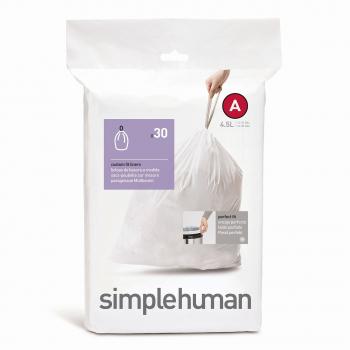 Sáčky do odpadkového koše 4,5 L, Simplehuman typ A, zatahovací, 30 ks v balení