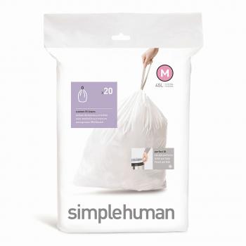 Sáčky do odpadkového koše 45 L, Simplehuman typ M, zatahovací, 20 ks v balení
