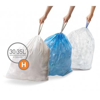 Sáčky do odpadkového koše 30-35 L, Simplehuman typ H zatahovací, 3 x 20 ks ( 60 sáčků ) CP