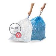 Sáčky do odpadkového koše 16-18 L, Simplehuman typ V zatahovací, 3 x 20 ks ( 60 sáčků ) CP