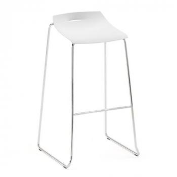 Barová stolička Memphis, bílý sedák