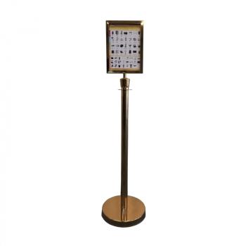 Lanová zábrana s informační tabulí Hotelum HRB01-RAM-GOLD, zlatá