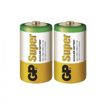 Alkalická baterie GP Super LR14 (C), blistr